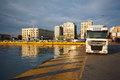 Passenger port of piraeus in athens greece Royalty Free Stock Photos