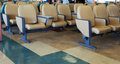Passenger seats on a ferry rows of empty await commuters from one port of call to another Royalty Free Stock Photo