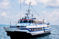 Passenger ship at sea Royalty Free Stock Photo