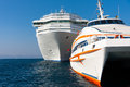 Passenger ships luxury boats and large oceanic lines Stock Images