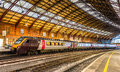 Passenger train at Bristol Temple Meads Railway Station Royalty Free Stock Photo