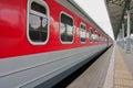 Passenger train on the platform Royalty Free Stock Photo