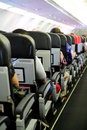 Passengers in Airplane Cabin Royalty Free Stock Photo