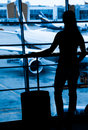 Passengers at the airport Royalty Free Stock Photo
