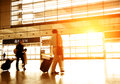 Passengers in the Airport Royalty Free Stock Photo