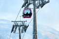 Passengers in cable car going up Royalty Free Stock Image