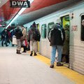 Passengers entering in a subway train toronto ontario canada pm Stock Photo