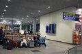 Passengers moscow russia – june are expected to pick up at the airport sheremetyevo the check in baggage on june in moscow Royalty Free Stock Image