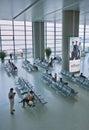 Passengers in the waiting area of Shanghai Hongqiao International Airport, Royalty Free Stock Photo