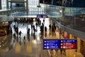 Passengers walking in hong kong chek lap kok airport china th february Royalty Free Stock Photo