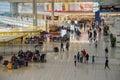 Passengers walking in hong kong chek lap kok airport china th february Royalty Free Stock Photos