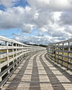 Passerelle avec le ciel Photo stock