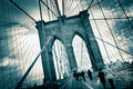 Passerelle de Brooklyn Images stock