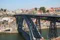 Passerelle des DOM Luis, Porto Photo stock
