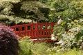 Passerelle rouge Image libre de droits
