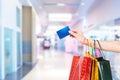 Passing credit card Royalty Free Stock Photo