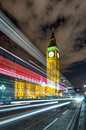 Passing by red bus in front of the Big Ben Royalty Free Stock Photo