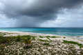 Passing storm cloud over ocean, Anguilla, British West Indies, BWI, Caribbean Royalty Free Stock Photo
