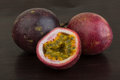 Passion fruit asian on the wooden background Stock Photography