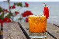 Passion fruit cocktail Royalty Free Stock Photo