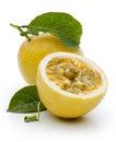 Passion fruit ingredient Royalty Free Stock Photo