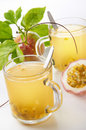 Passion Fruits Drink Stock Photography