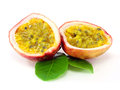 Passion fruits on white background Stock Photography