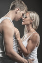 Passionate young couple in love Royalty Free Stock Photo