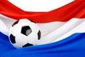 Passione dell'Olanda per gioco del calcio Fotografie Stock