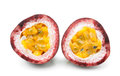 Passionfruit isolated on white background Royalty Free Stock Photo