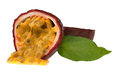 Passionfruit lovely on white background Stock Photography