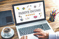 Passive Income Concept On Laptop Monitor Royalty Free Stock Photo