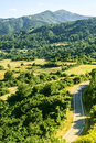 Passo del cirone appennino mountain landscape parma emilia italy in the Royalty Free Stock Photos
