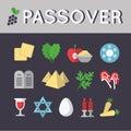 Passover icon set. EPS 10