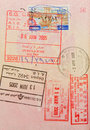 Passport with lebanese and hongkong stamps Royalty Free Stock Photography