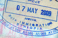 Passport Stamp Royalty Free Stock Photography