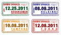 Passport stamps Royalty Free Stock Images
