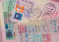 Passport stamps Royalty Free Stock Photos