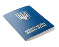 Passport Ukraine isolated Stock Image