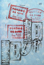 Passport Visa Stamps (Asia) Stock Photography