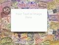 Passport Visas - Background - Add Text Royalty Free Stock Photo