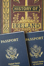 Passports ancient history book travel concept Royalty Free Stock Photo