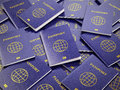 Passports travel turism or customs concept background d passport illustration Royalty Free Stock Photo
