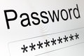 Password Box on LCD screen Royalty Free Stock Photo