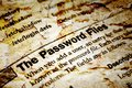 The password files close up of Royalty Free Stock Image