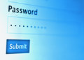 Password on monitor screen Royalty Free Stock Photo