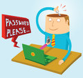 Password in my mind illustration of Royalty Free Stock Photos