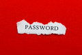 Password a scrap of paper with the word Royalty Free Stock Image