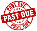 Past due red grunge round vintage stamp Royalty Free Stock Photo