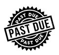 Past Due rubber stamp Royalty Free Stock Photo
